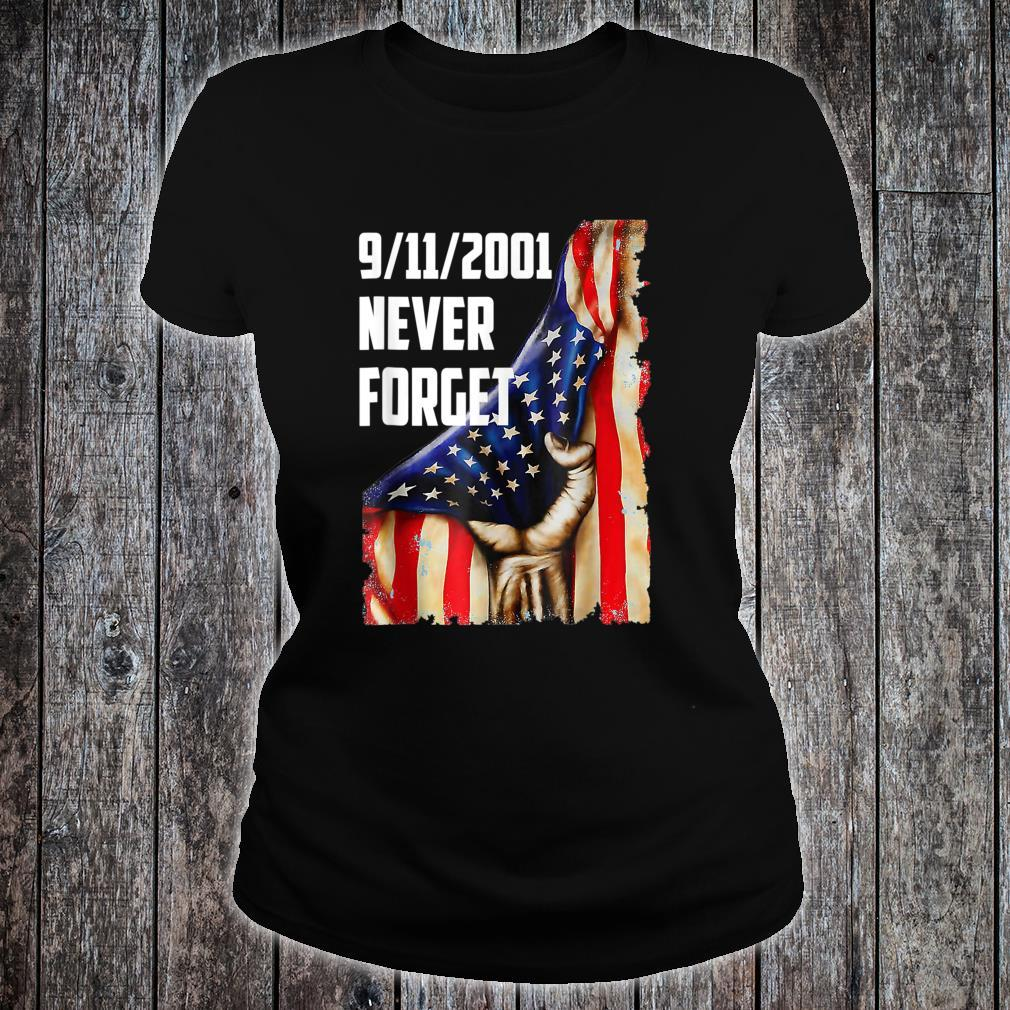 20Year 911 Memorial Never Forget Patriot Day Vintage Flag Shirt ladies tee