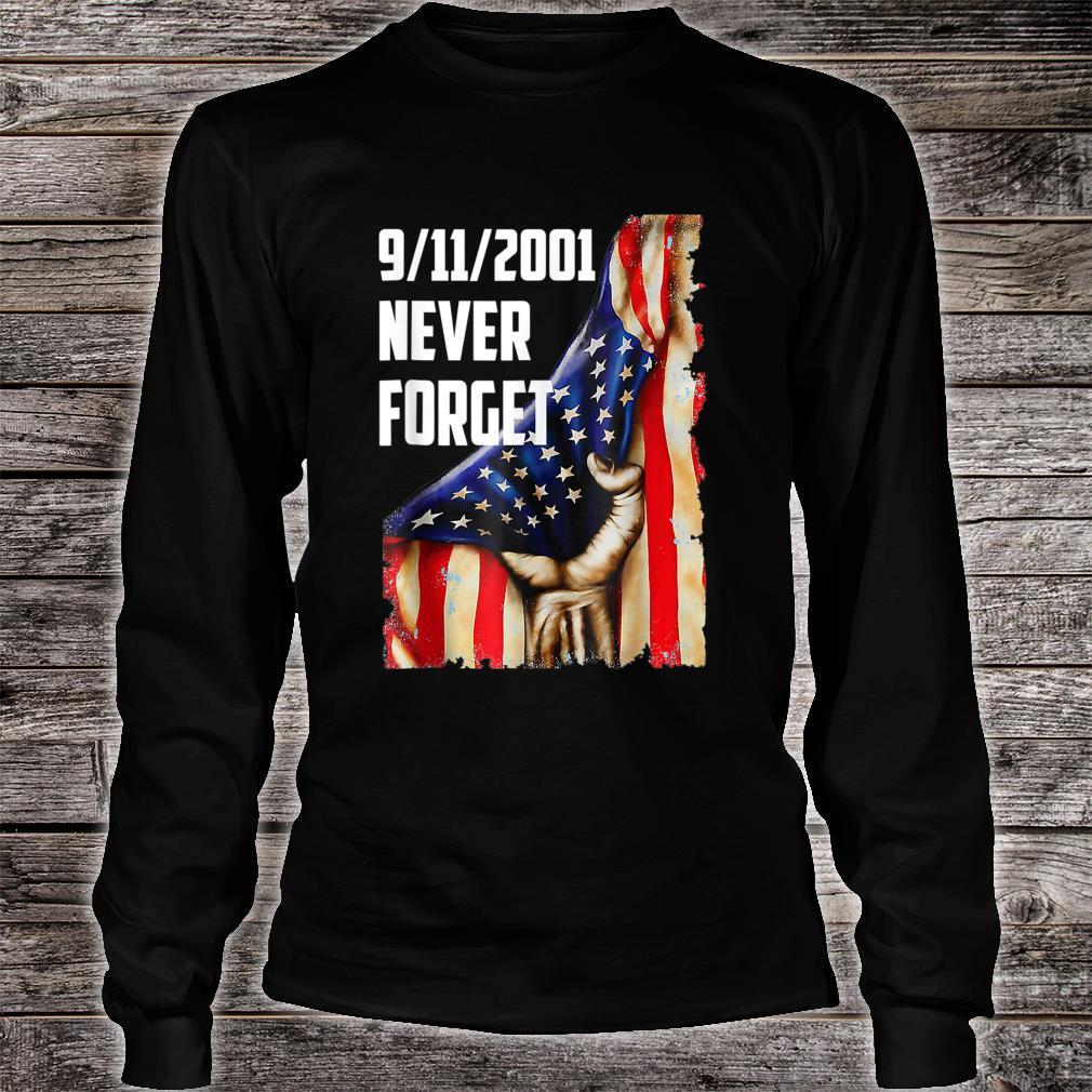20Year 911 Memorial Never Forget Patriot Day Vintage Flag Shirt long sleeved