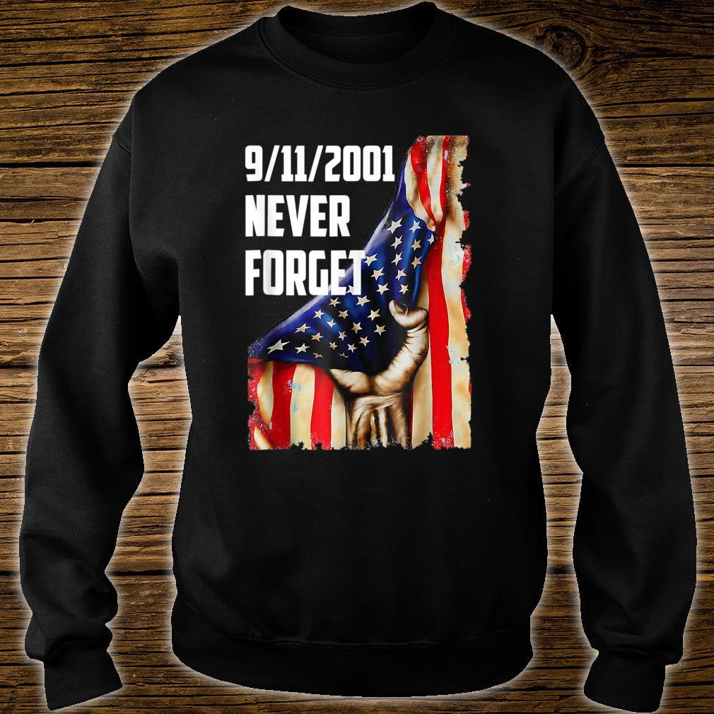 20Year 911 Memorial Never Forget Patriot Day Vintage Flag Shirt sweater