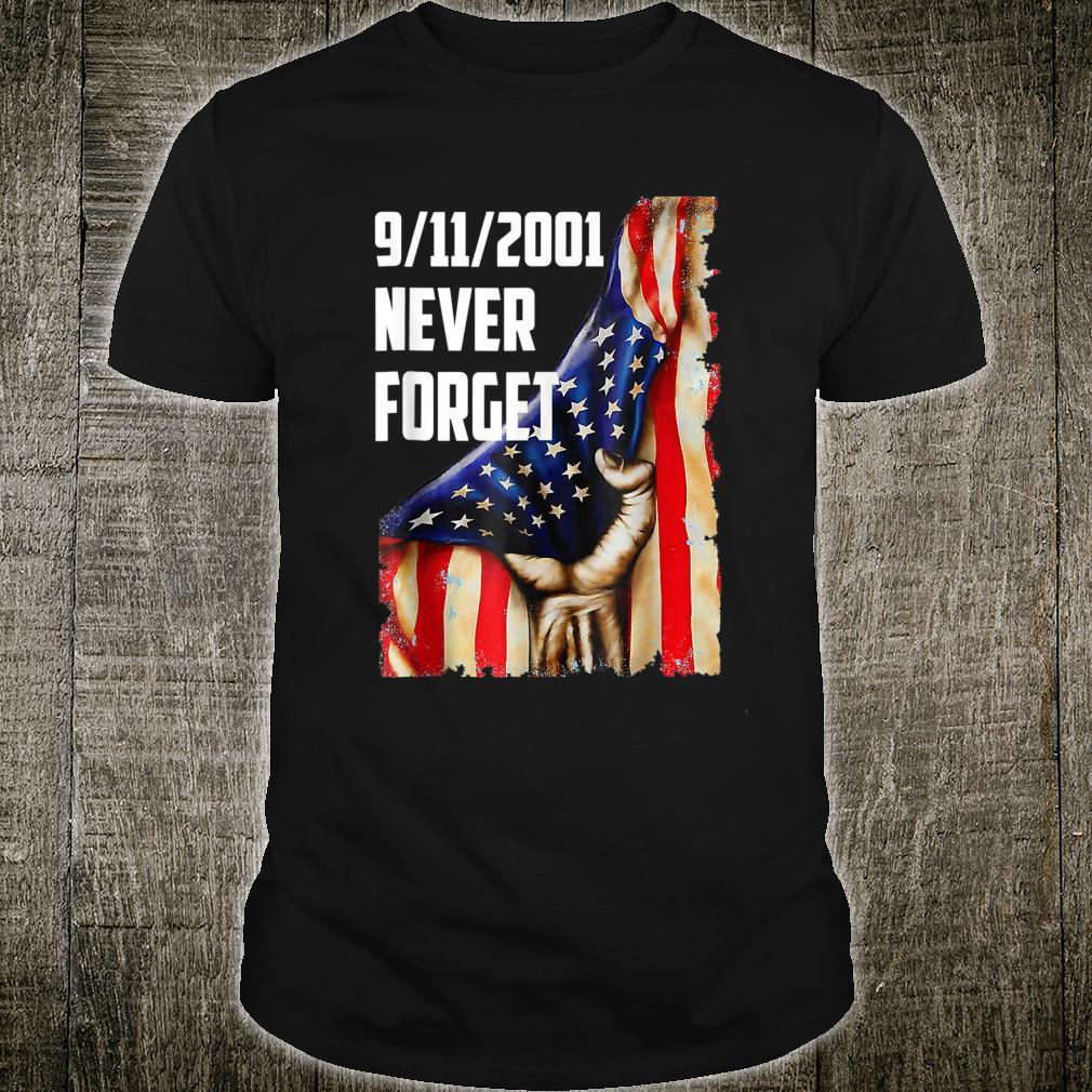 20Year 911 Memorial Never Forget Patriot Day Vintage Flag Shirt
