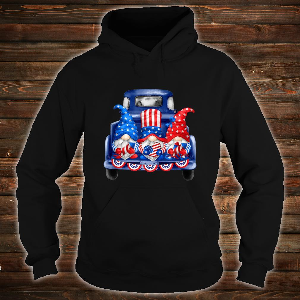4th of July Gnomies Independence Day Three Patriotic Gnomes Shirt hoodie