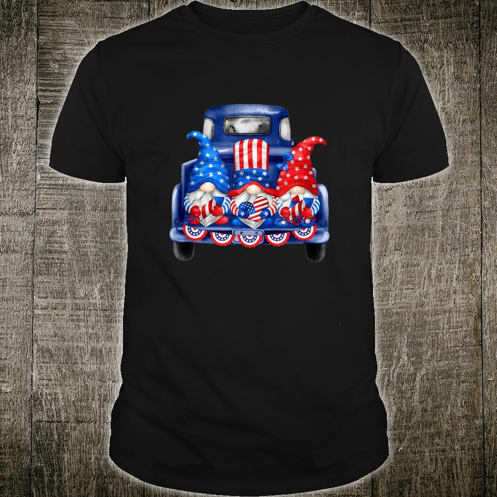 4th of July Gnomies Independence Day Three Patriotic Gnomes Shirt