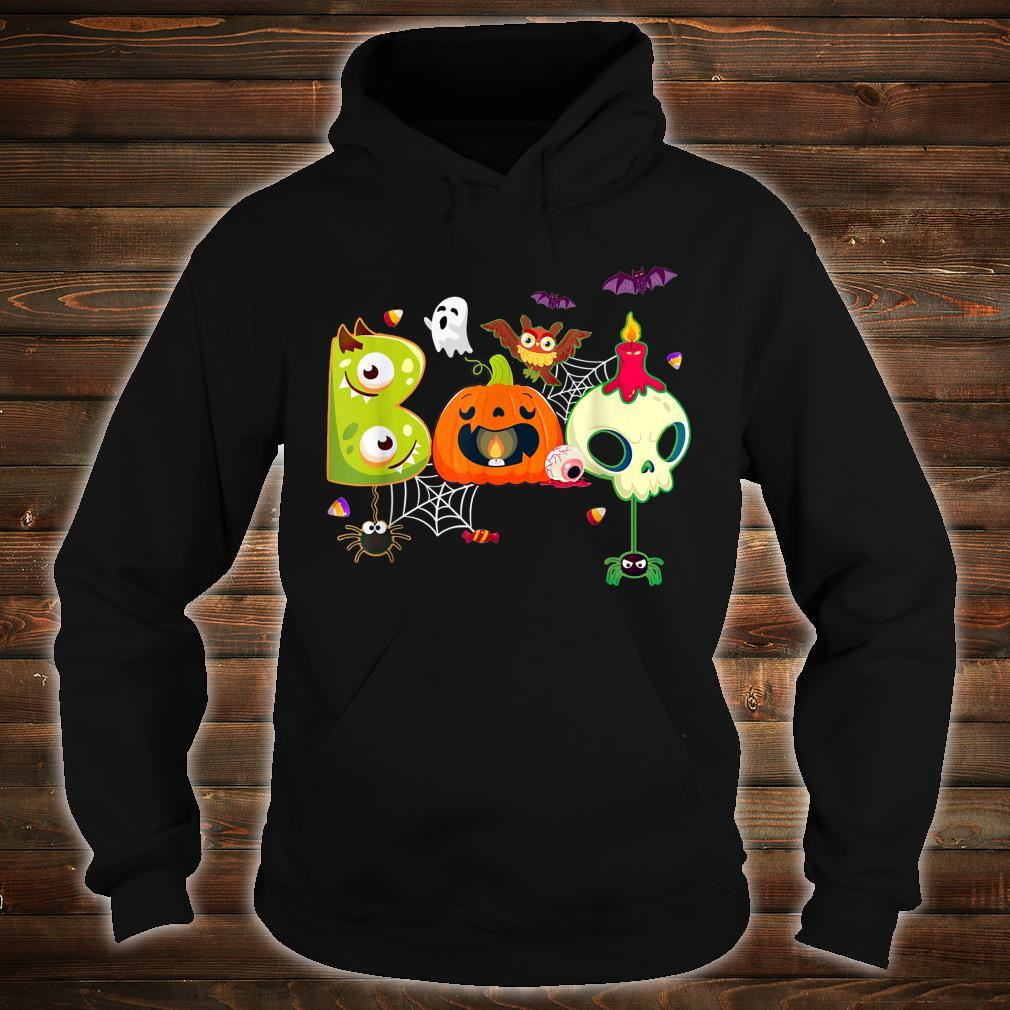 Boo Spiders And Witch Hat Skull Halloween Costume Shirt hoodie