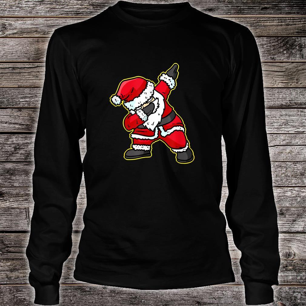 Dabbing Santa Claus Christmas Reindeer Dab Xmas Shirt long sleeved