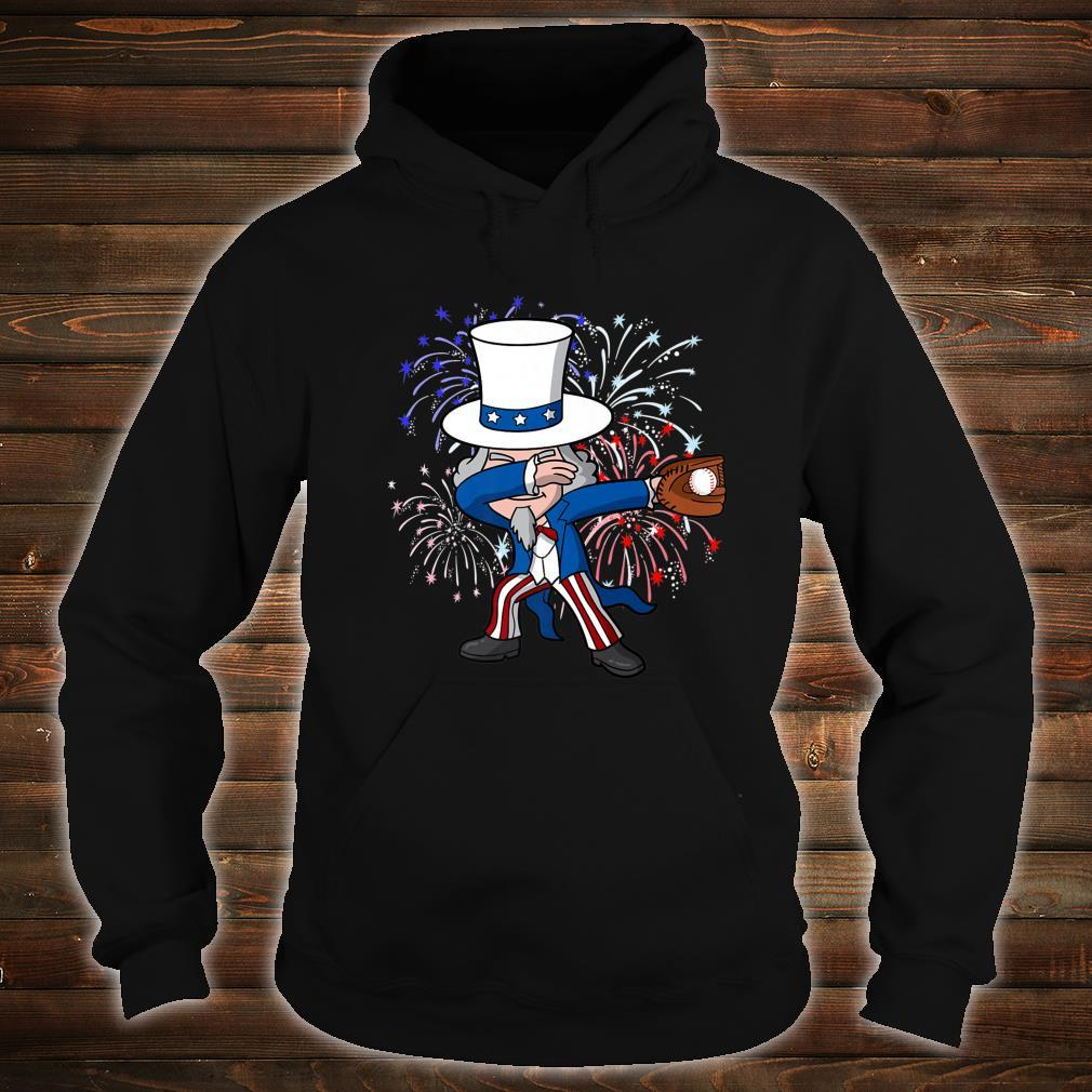 Dabbing Uncle Sam Baseball 4th of July Independence Day USA Shirt hoodie