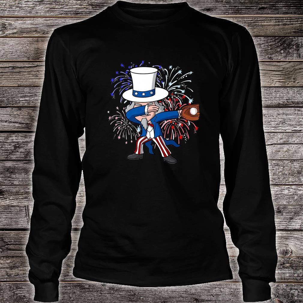 Dabbing Uncle Sam Baseball 4th of July Independence Day USA Shirt long sleeved
