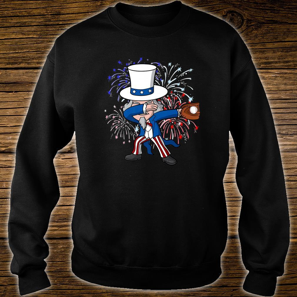 Dabbing Uncle Sam Baseball 4th of July Independence Day USA Shirt sweater