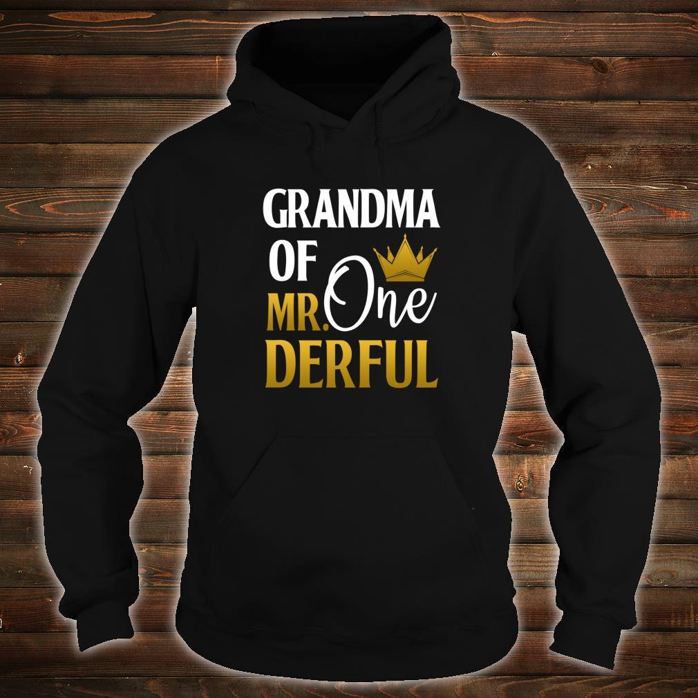 Grandma Of Mr Onederful 1st Birthday Mother's Day Shirt hoodie