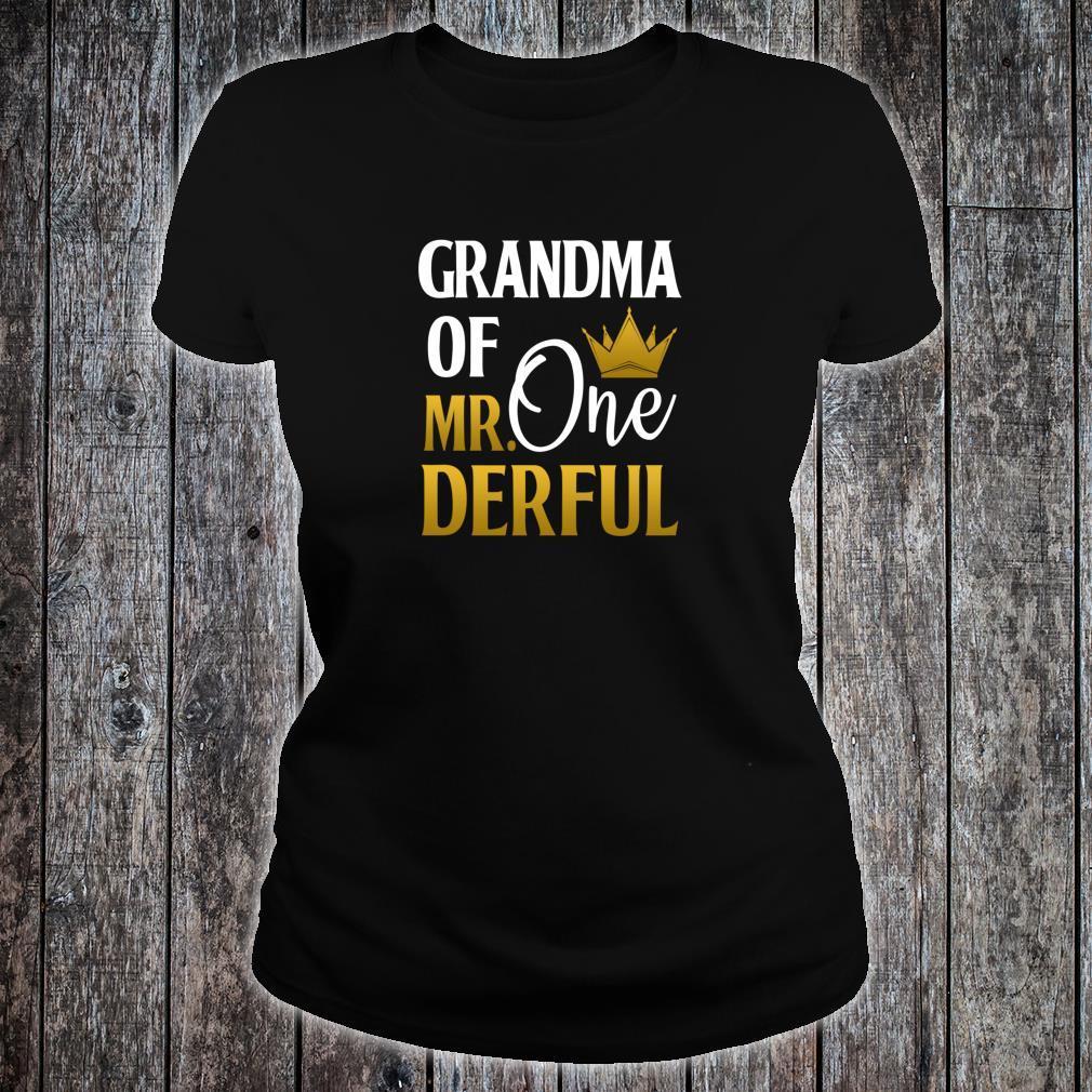 Grandma Of Mr Onederful 1st Birthday Mother's Day Shirt ladies tee