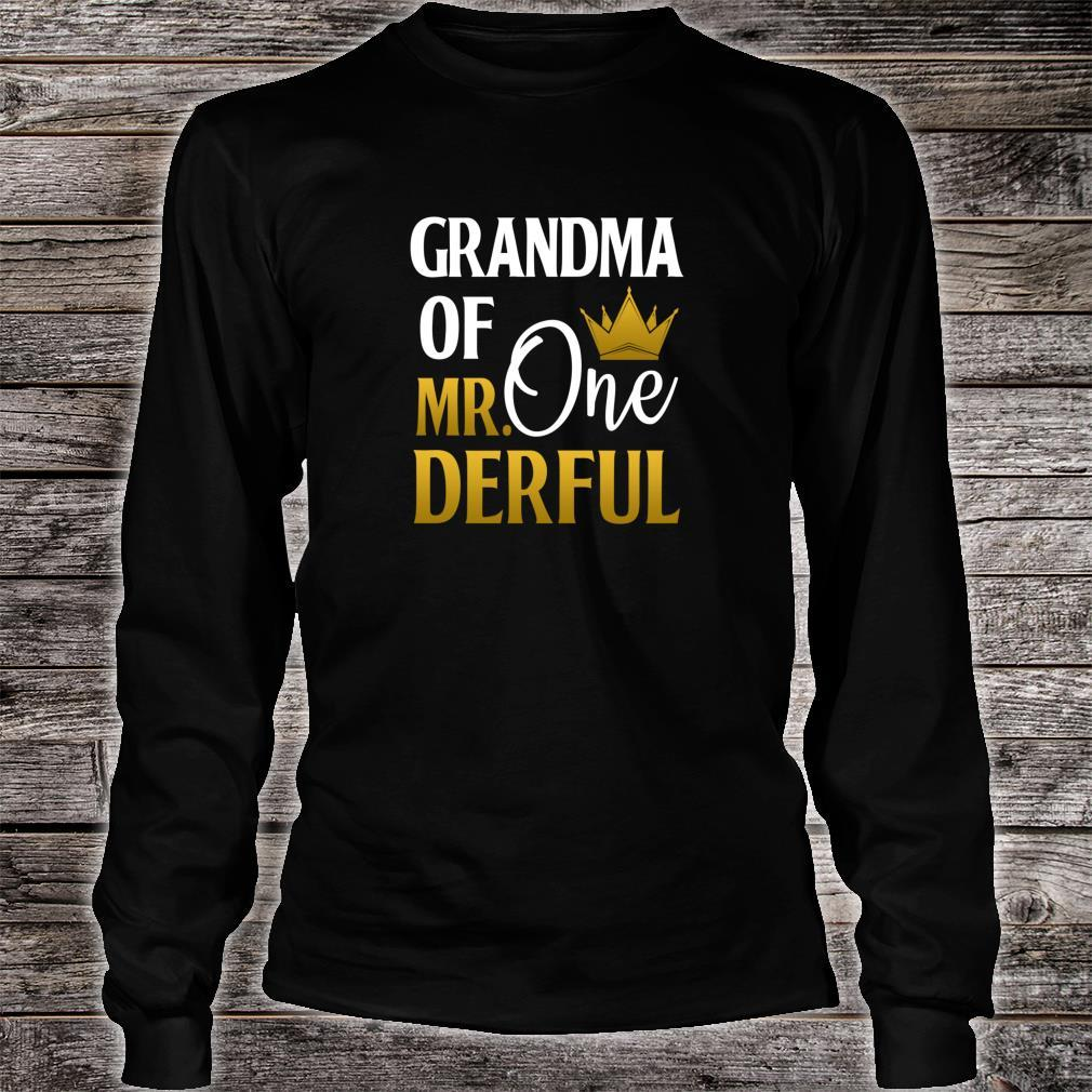 Grandma Of Mr Onederful 1st Birthday Mother's Day Shirt long sleeved