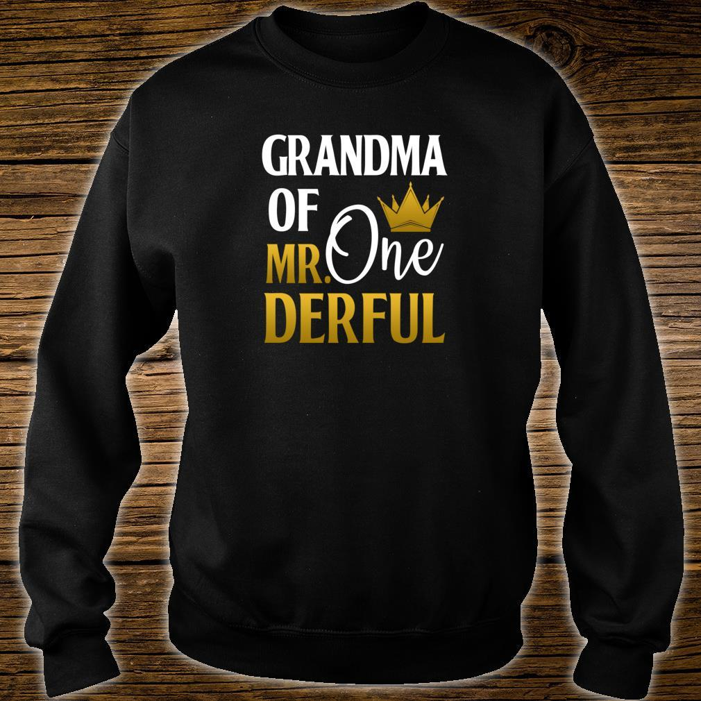 Grandma Of Mr Onederful 1st Birthday Mother's Day Shirt sweater