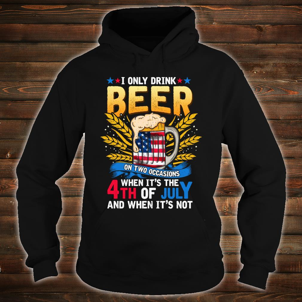 Independence Day Beer Drinking 4th of July Joke Quote Shirt hoodie