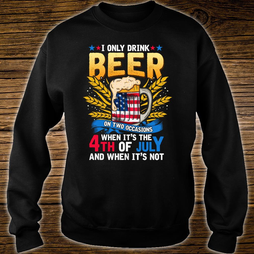 Independence Day Beer Drinking 4th of July Joke Quote Shirt sweater