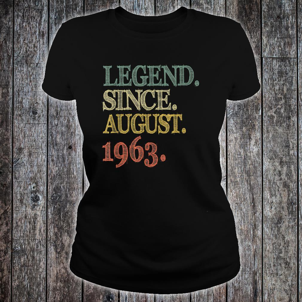 Legend Since August 1963 56th Birthday 56 Years Old Shirt ladies tee