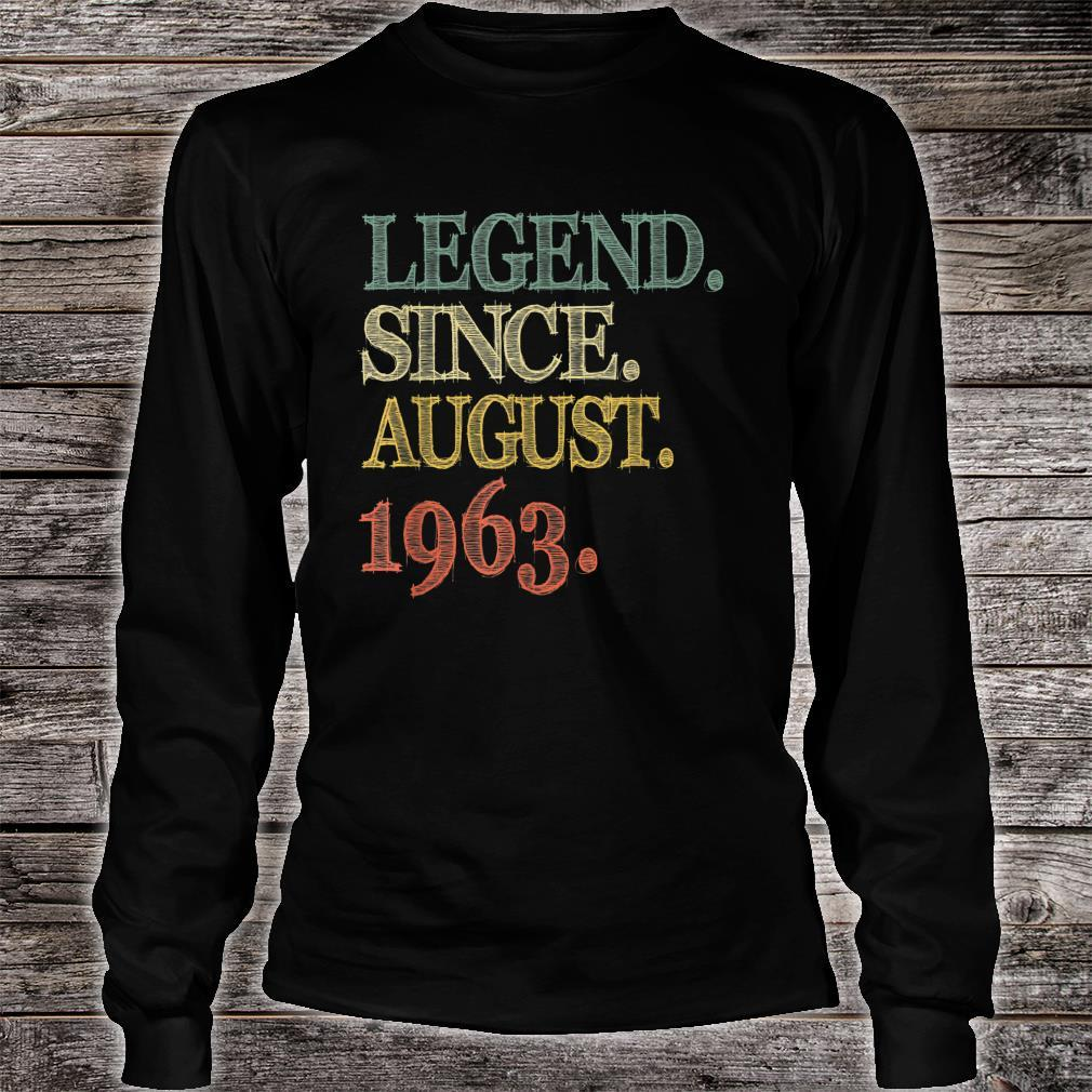 Legend Since August 1963 56th Birthday 56 Years Old Shirt long sleeved