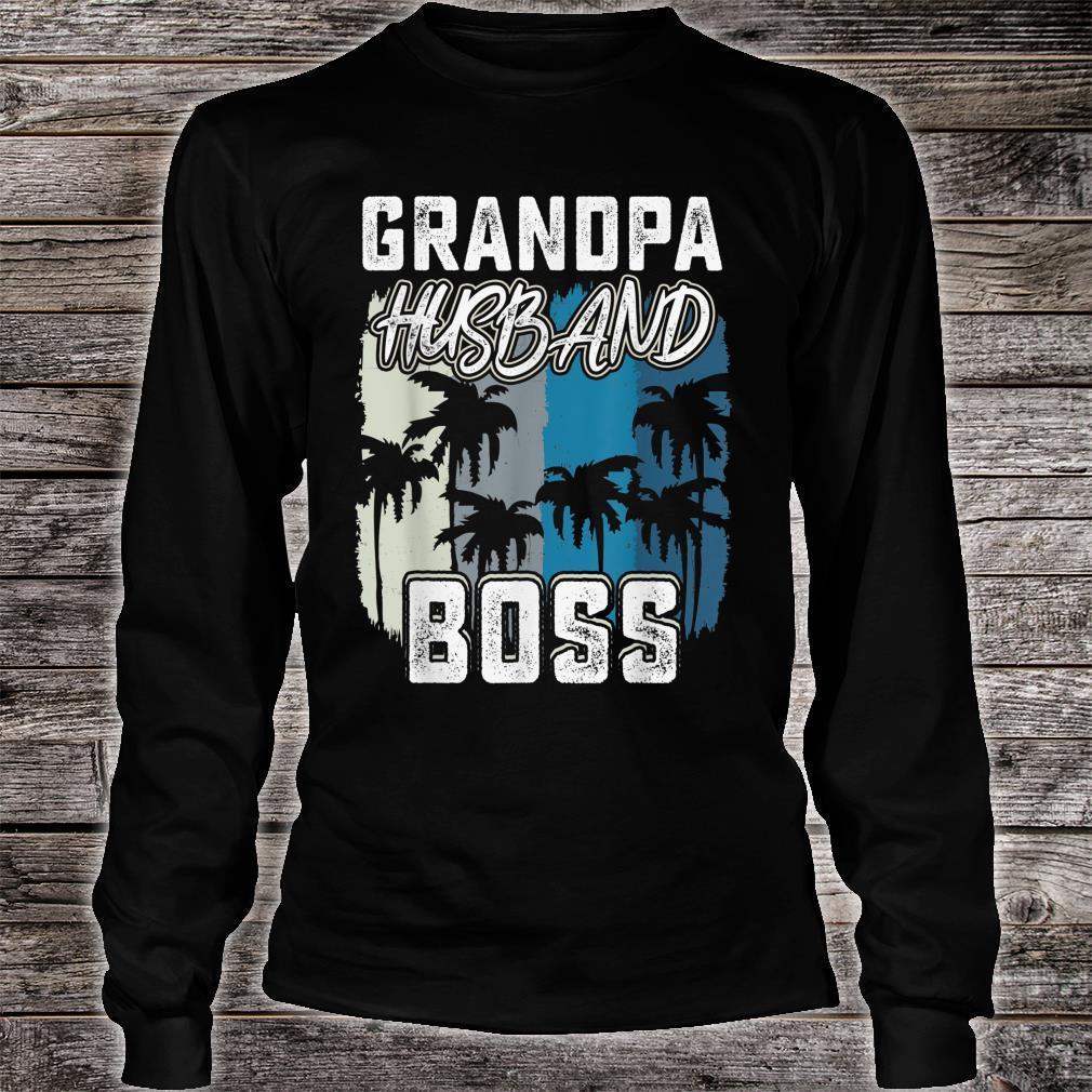 Mens Grandpa Husband Boss saying Father day 2019 shirt long sleeved