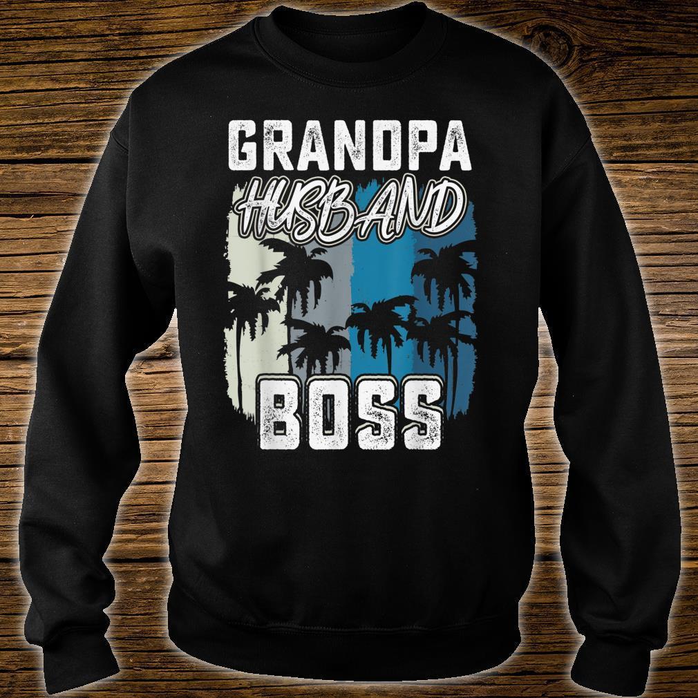 Mens Grandpa Husband Boss saying Father day 2019 shirt sweater
