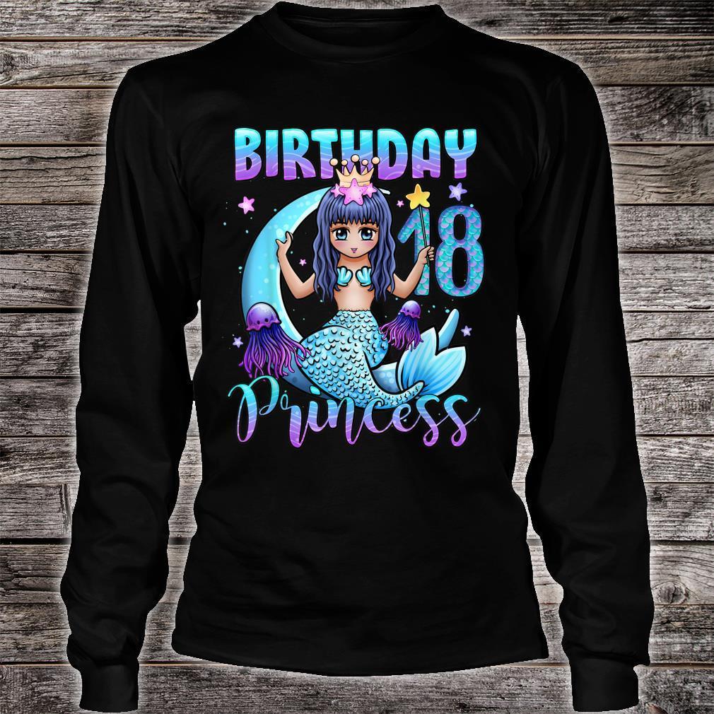 Mermaid Birthday Girl 18 Years Old Mermaid 18th Birthday Shirt long sleeved