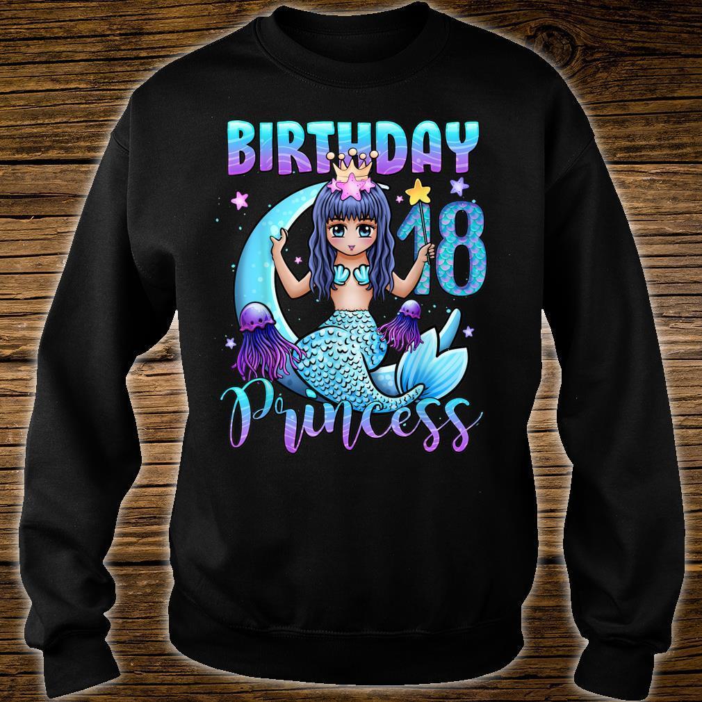 Mermaid Birthday Girl 18 Years Old Mermaid 18th Birthday Shirt sweater