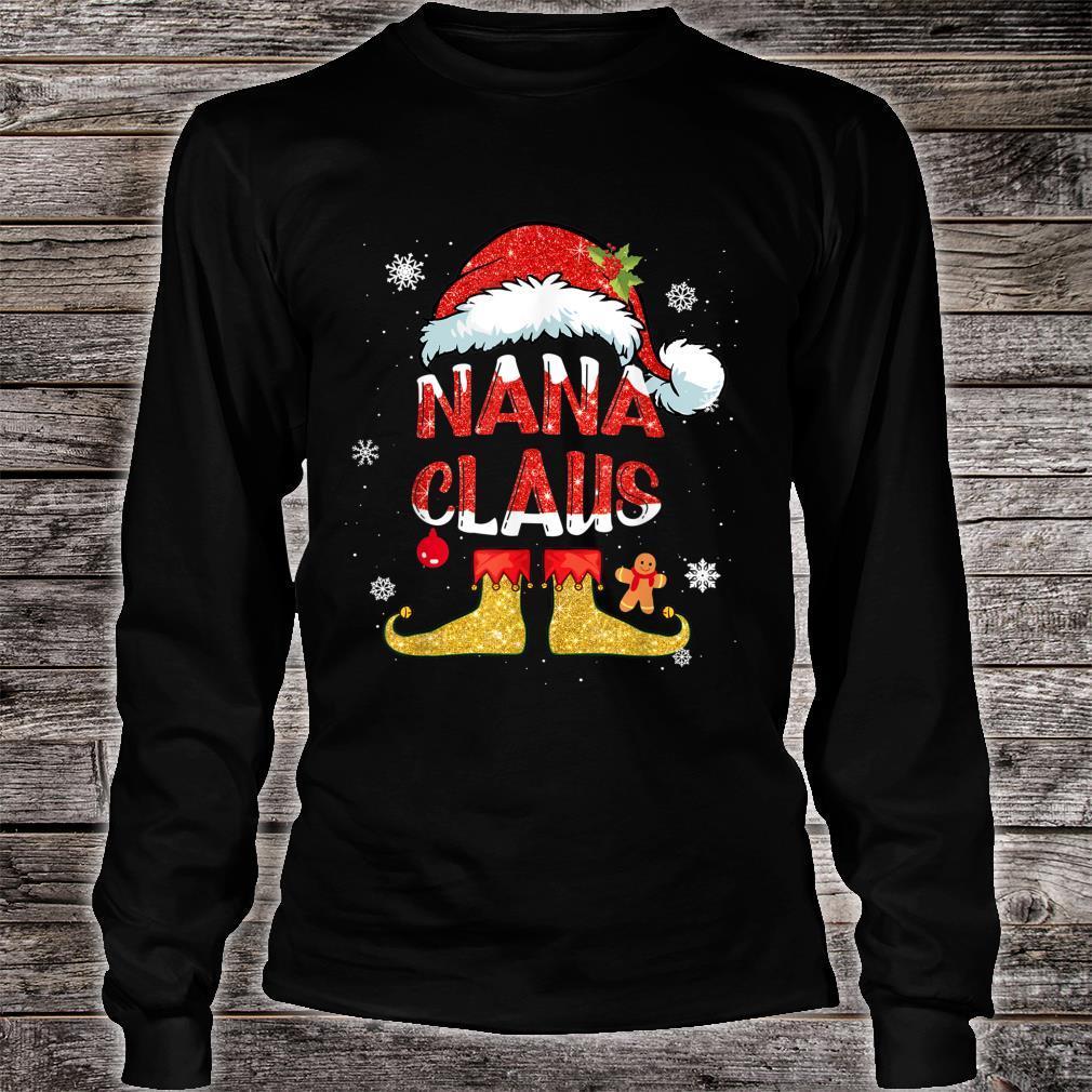 Nana Claus Christmas Santa Hat Family Group Matching Pajama Shirt long sleeved