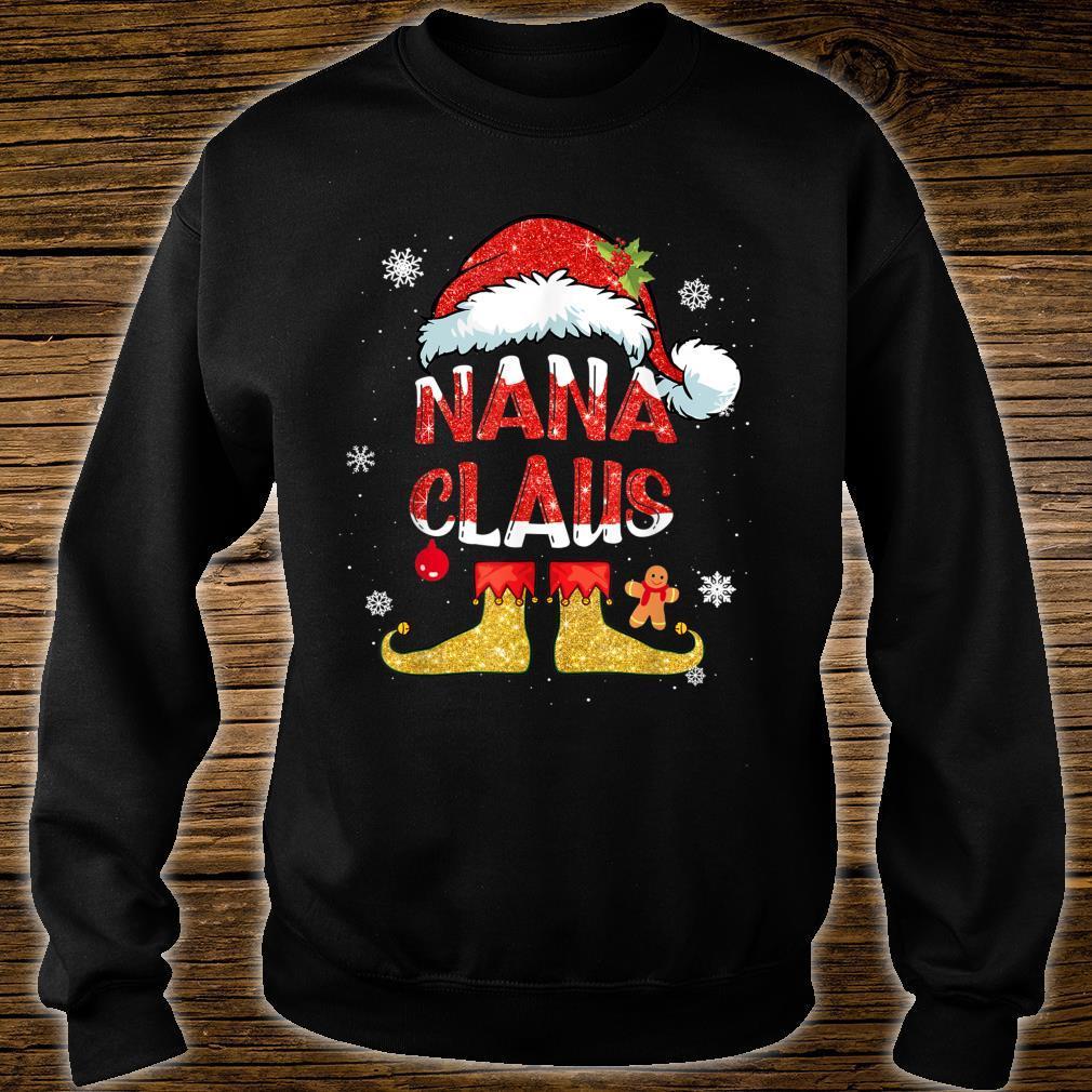 Nana Claus Christmas Santa Hat Family Group Matching Pajama Shirt sweater