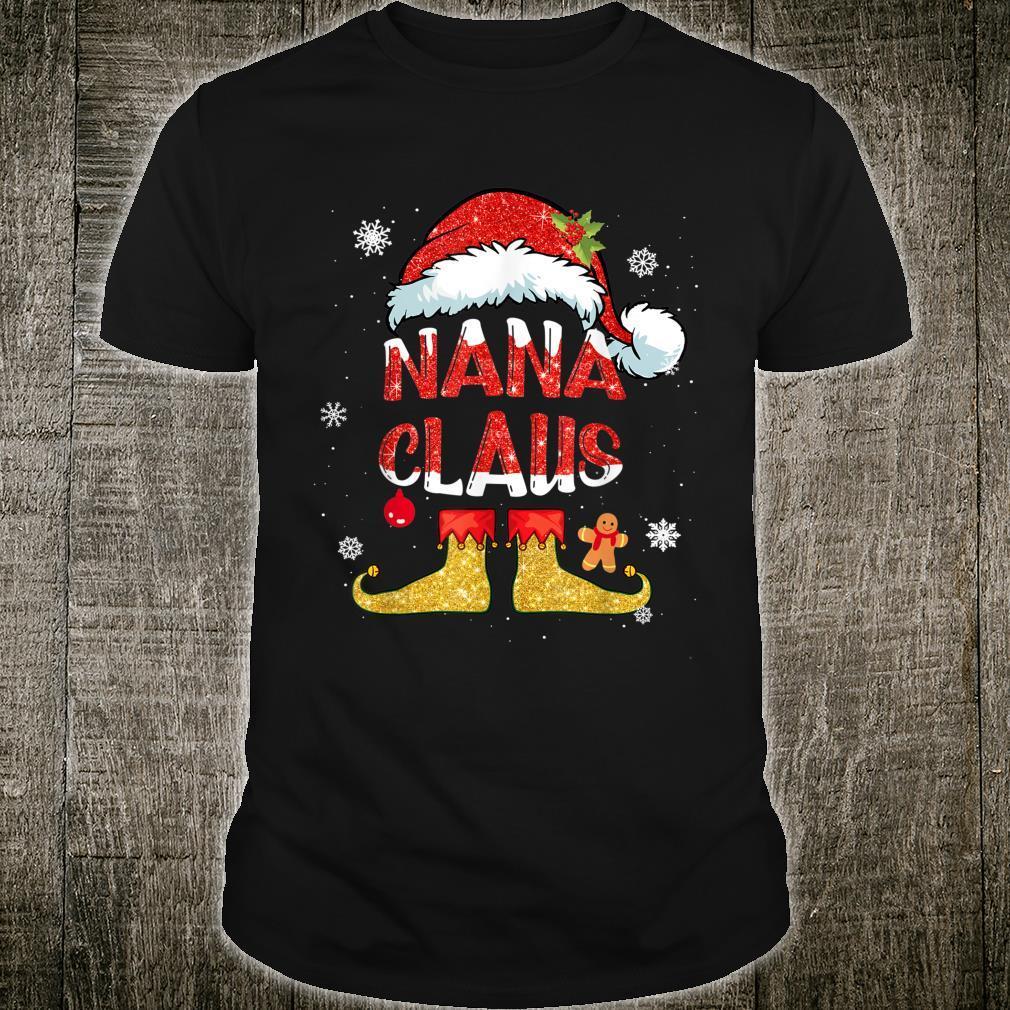 Nana Claus Christmas Santa Hat Family Group Matching Pajama Shirt