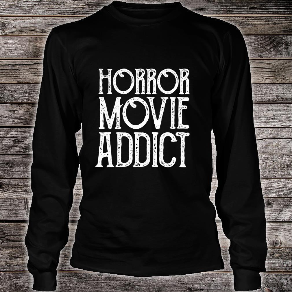 Old Horror Movie Addict Halloween Shirt long sleeved
