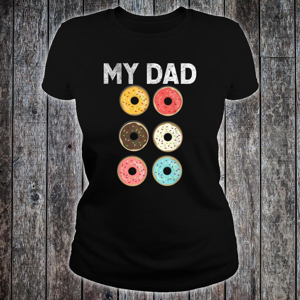 Papa Donut Gym Fitness Donuts Father Day Shirt ladies tee