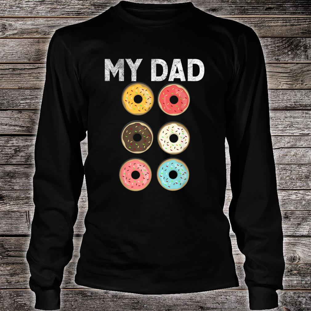 Papa Donut Gym Fitness Donuts Father Day Shirt long sleeved