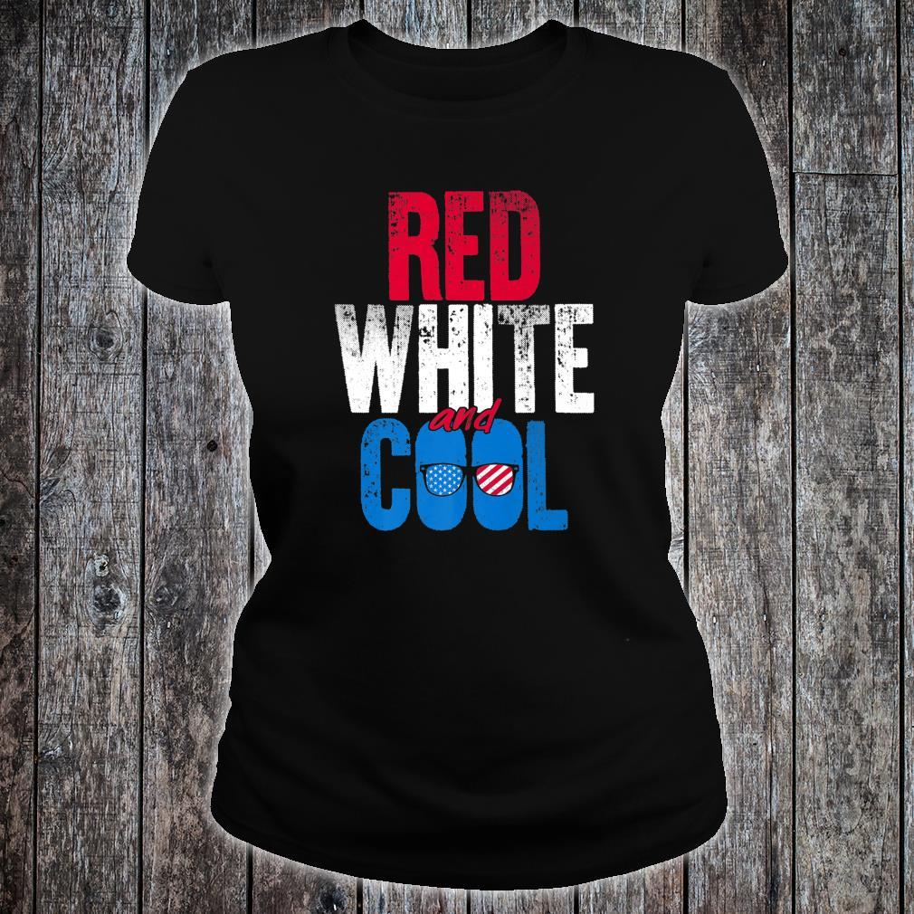 Red White And Cool Independence Day Shirt ladies tee