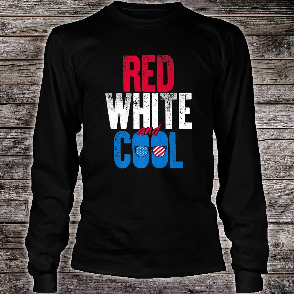 Red White And Cool Independence Day Shirt long sleeved