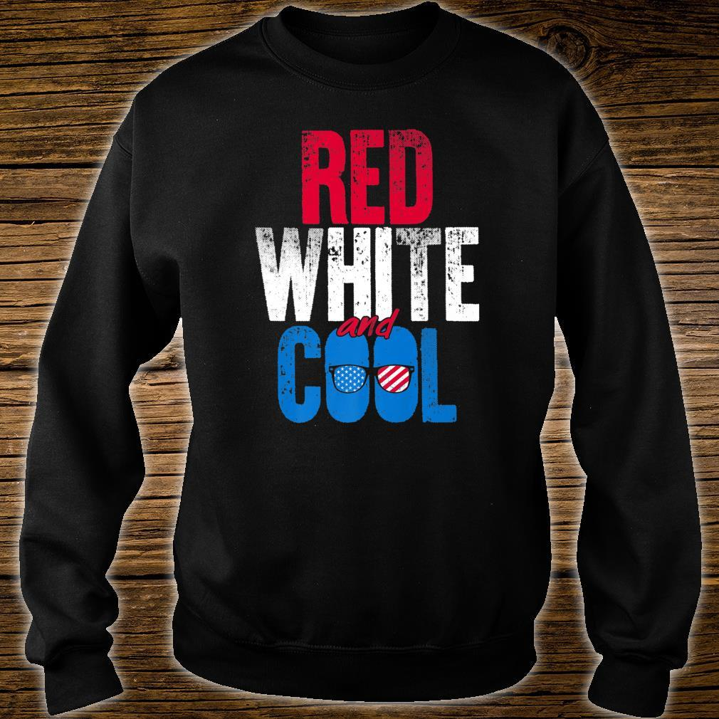 Red White And Cool Independence Day Shirt sweater