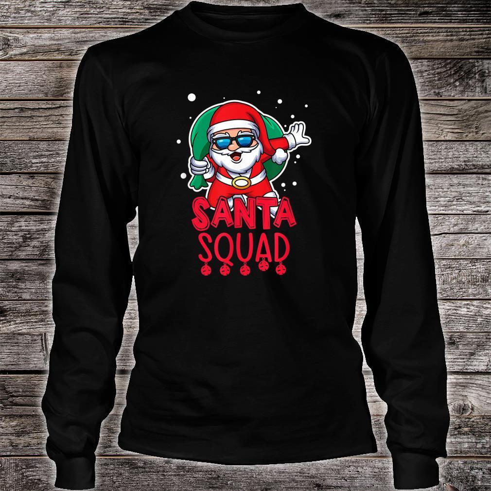 Santa Squad Christmas Vacation Saying Shirt long sleeved