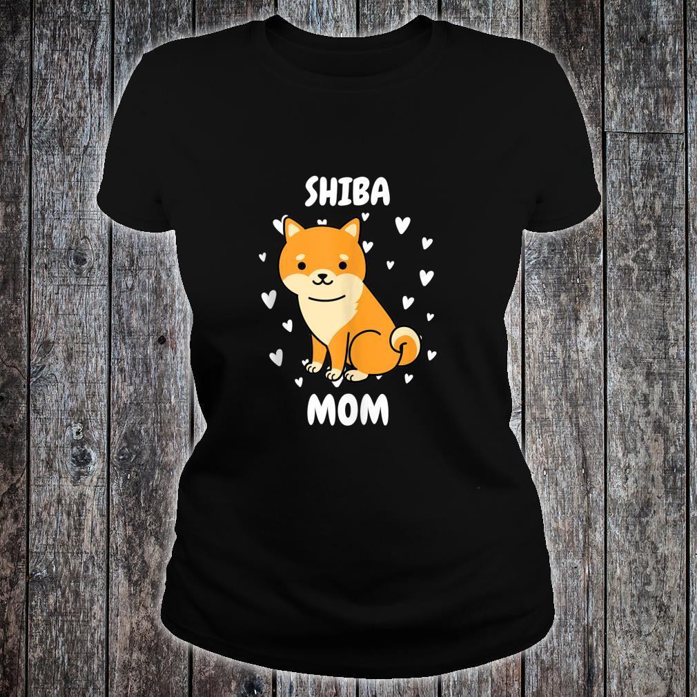 Shiba Mom Mummy Mama Mum Mommy Mother's Day Mother Shirt ladies tee