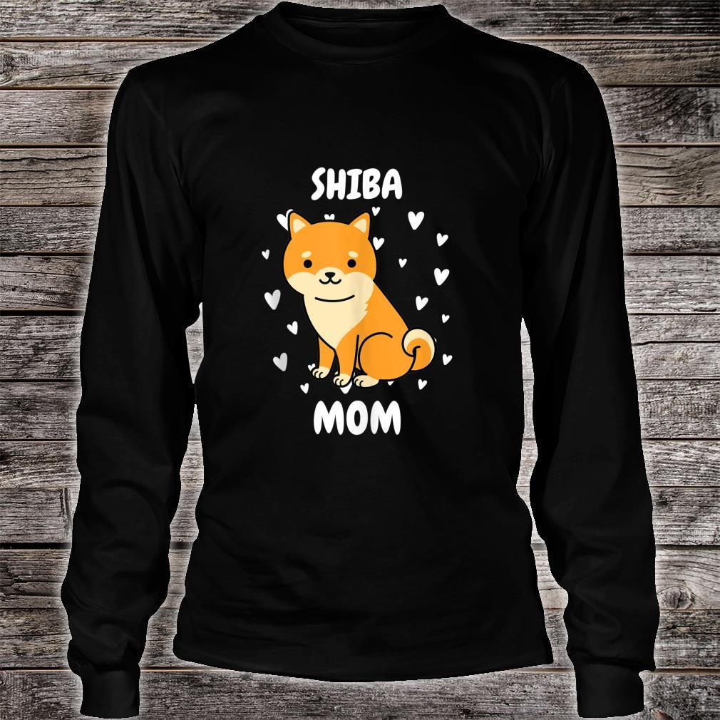 Shiba Mom Mummy Mama Mum Mommy Mother's Day Mother Shirt long sleeved