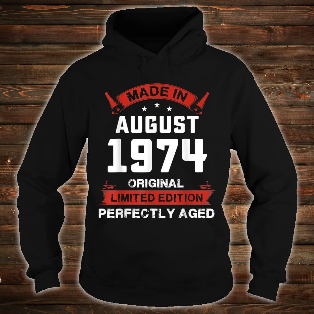 Vintage August Shirt 1974 Birthday For 45 Yrs Old H1 Shirt hoodie