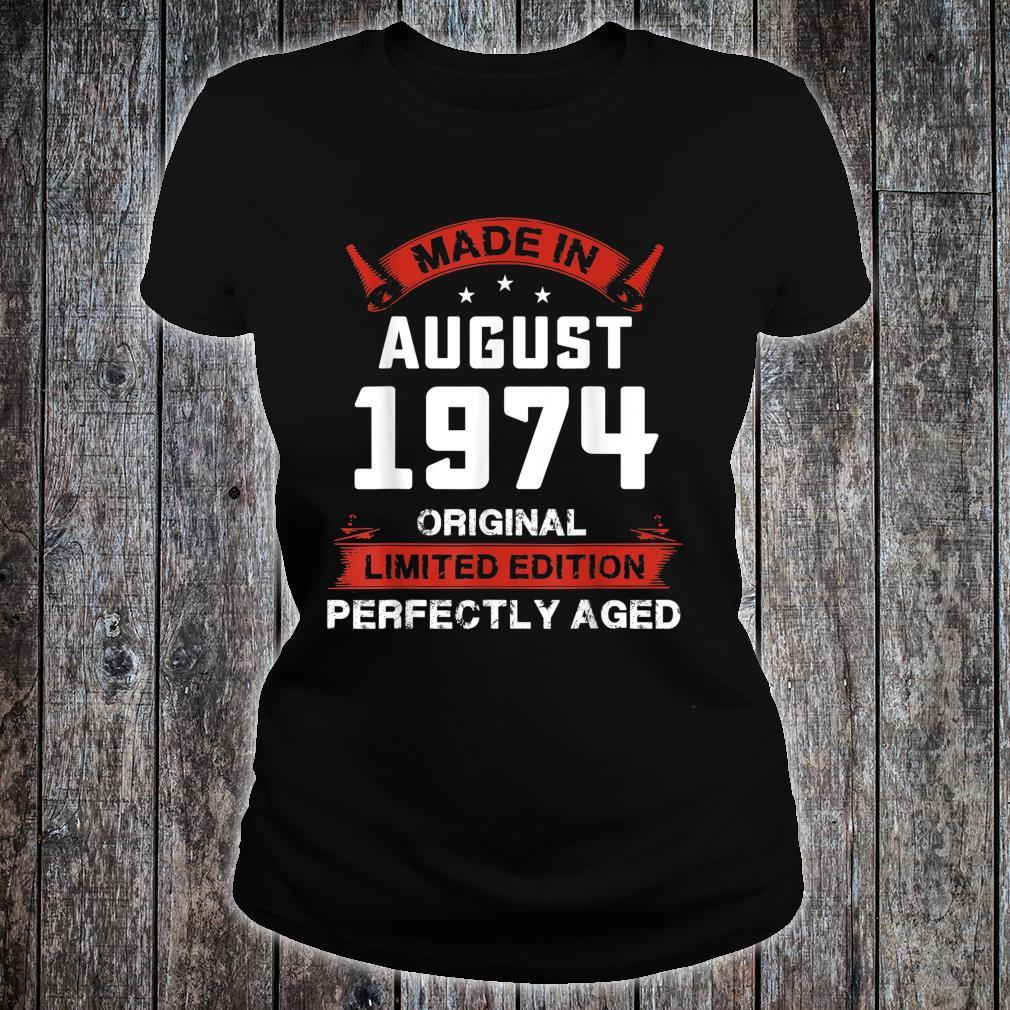Vintage August Shirt 1974 Birthday For 45 Yrs Old H1 Shirt ladies tee