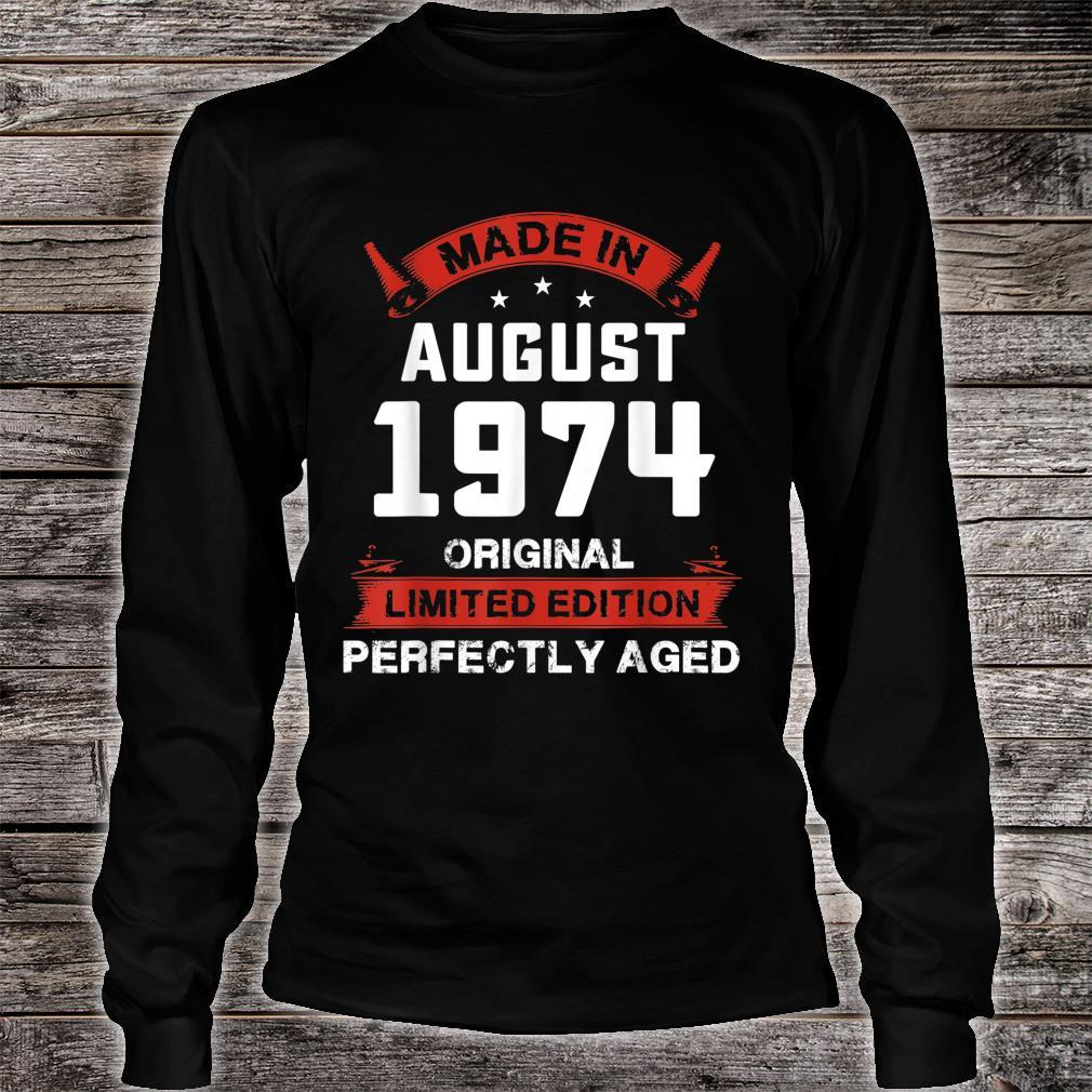 Vintage August Shirt 1974 Birthday For 45 Yrs Old H1 Shirt long sleeved