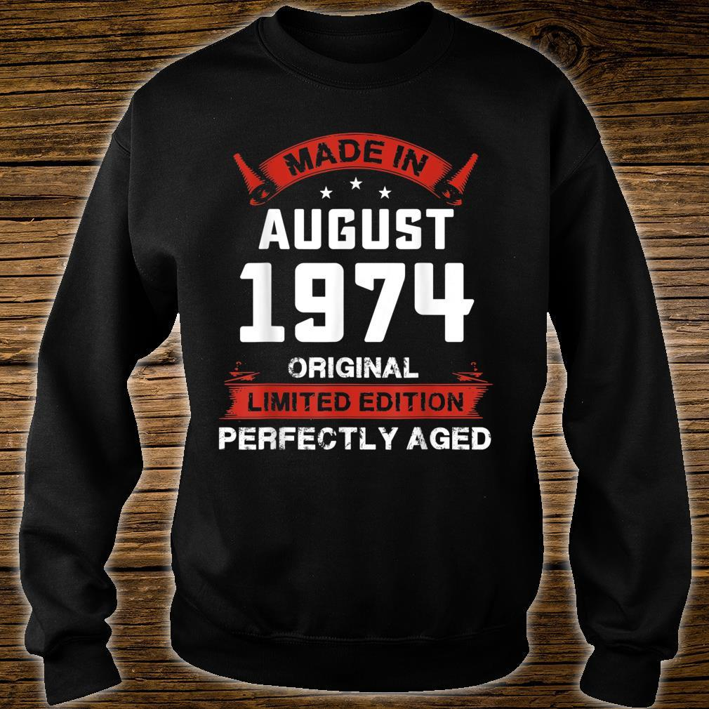 Vintage August Shirt 1974 Birthday For 45 Yrs Old H1 Shirt sweater